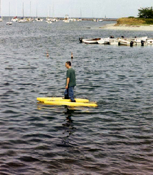 Walking on water - Cohasset harbor, Massachusetts