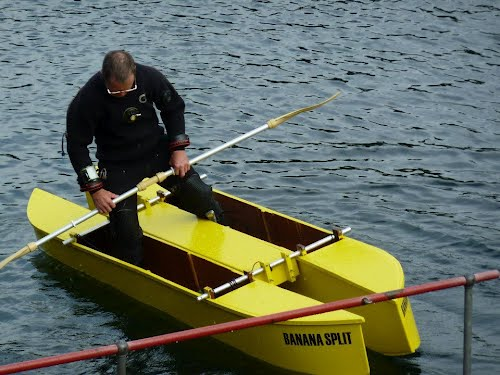 DIY stitch and glue wooden W fishing kayak design - United Kingdom