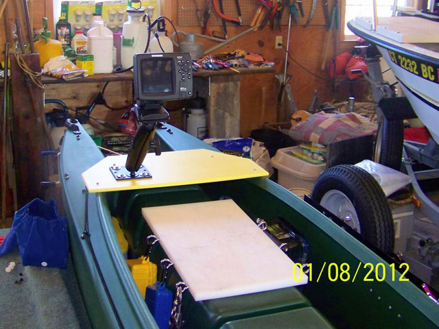 3. fishing kayak cockpit with front deck and fish finder