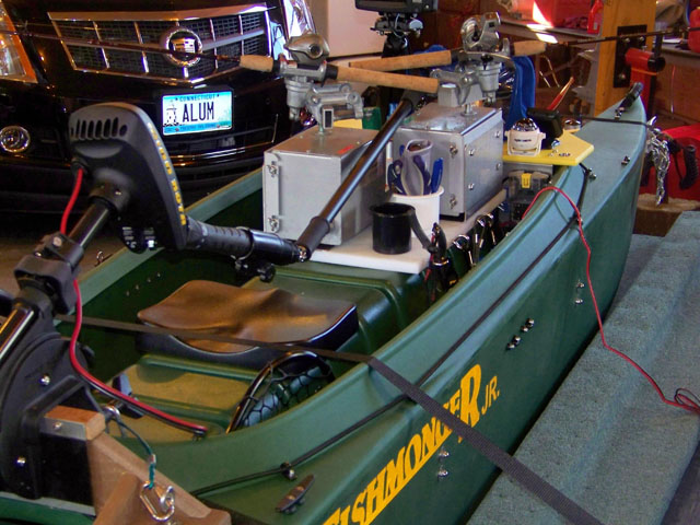 6. electric jiggers installed in fishing kayak