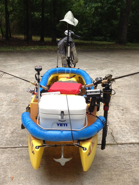 Fishing kayak rigged with electric trolling motor - Alabama (3)