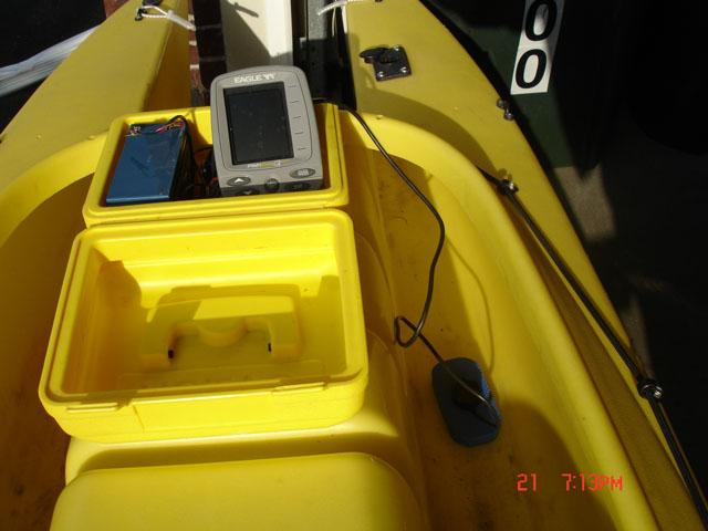 Transducer for fish finder - fishing kayak (3)
