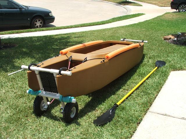 fishing kayak transportation wheels - down position