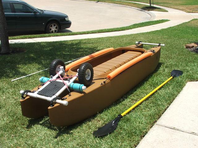 fishing kayak transportation wheels - up position