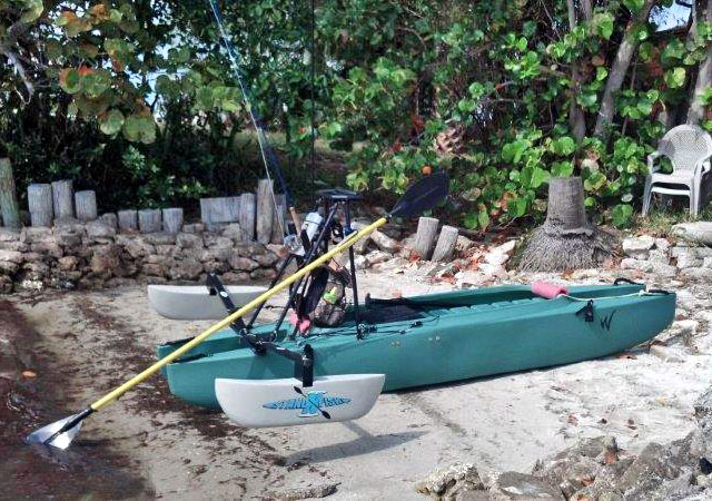 fly fishing kayak with high standing platform for sight fishing