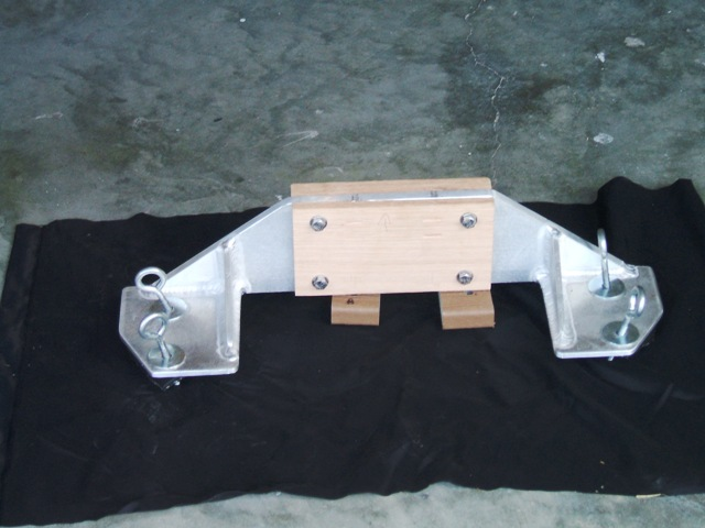 front of transom motor mount