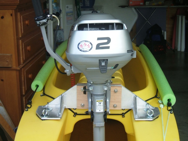 outboard motor on fishing kayak Cape Coral Florida