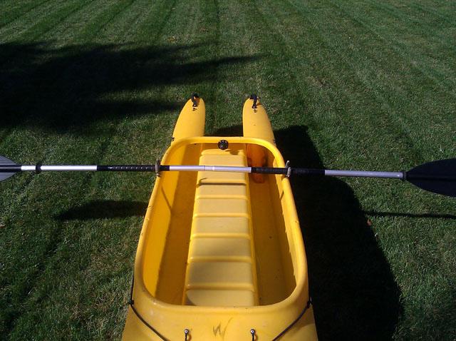paddle perpendicular storage