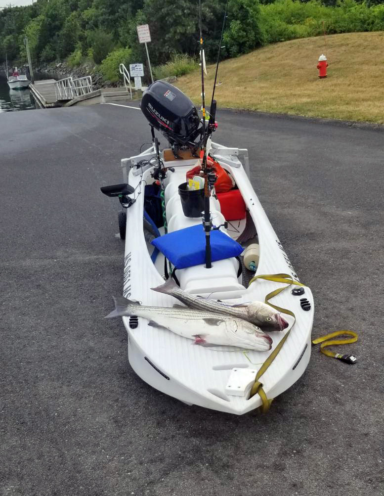 The S4 is a seaworthy micro skiff that's suitable for offshore fishing