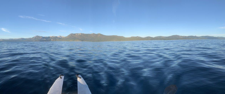 Wavewalk 700 kayak crossing lake Tahoe