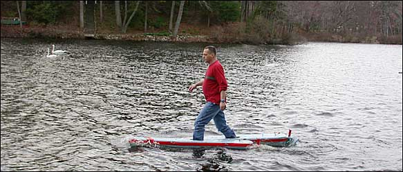 Walking On Water - Charles River, Newton, MA, April 2002